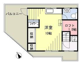スタヂオ横浜舎・4号室の間取り