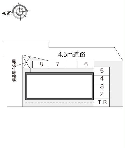 レオパレスサザンクロス 108号室の駐車場