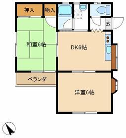 足立アパート・2F号室の間取り