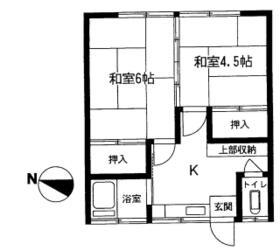 久保田荘・202号室の間取り