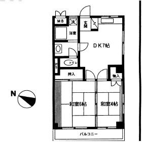 石井第1ビル・303号室の間取り