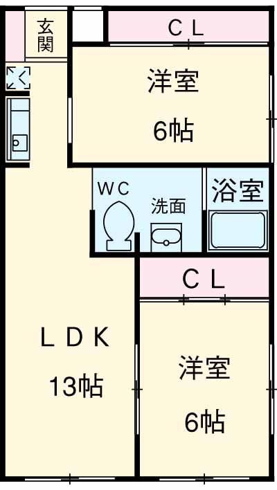 パノラマハイツ秋山・103号室の間取り