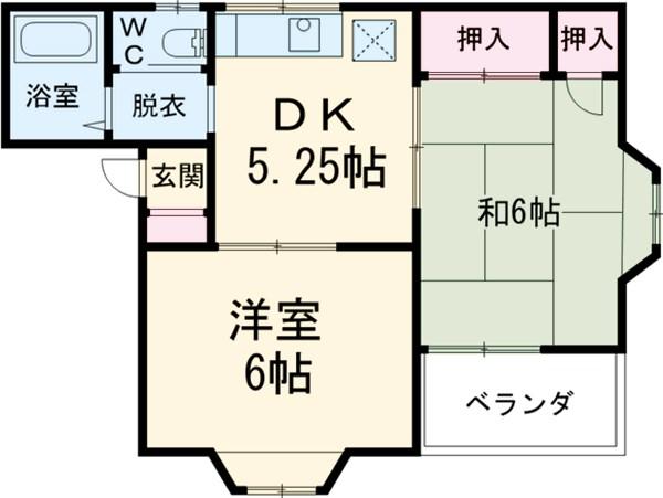 第7コーポオオタカ・205号室の間取り
