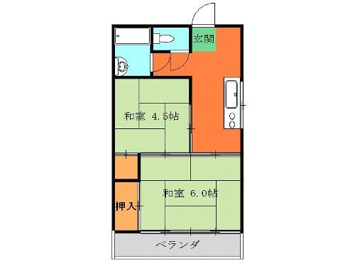 マンション富士見 301号室の間取り