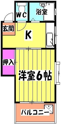 コーポ長崎・302号室の間取り