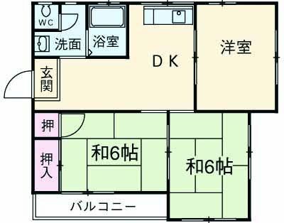 レジデンス香川Ⅱ 102号室の間取り