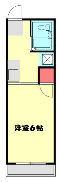 シティハイムエクセルⅡ・202号室の間取り