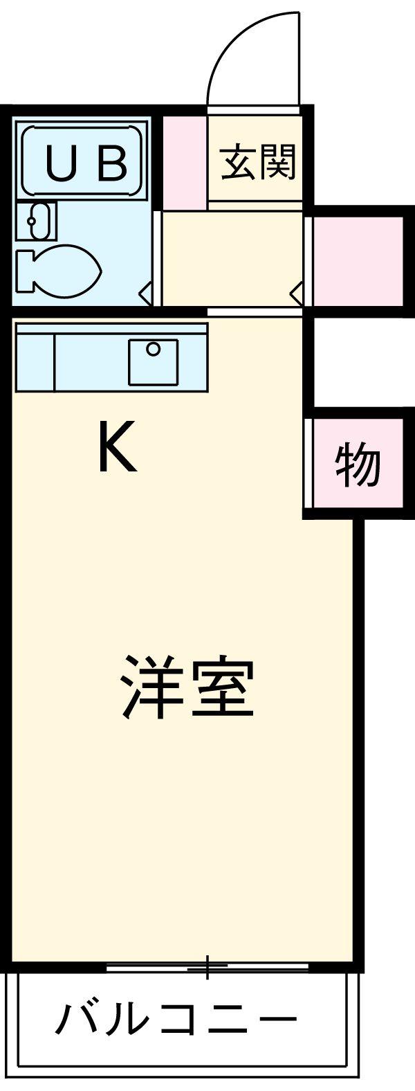 中津川ハイムⅢ・102号室の間取り