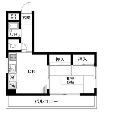 八田ビル・303号室の間取り