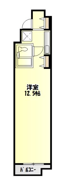 第2中庭ビル・203号室の間取り