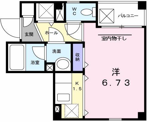 ソレイユ横浜・01010号室の間取り