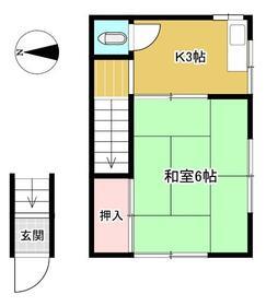 吉川荘・201号室の間取り