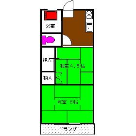 コーポ田辺・203号室の間取り