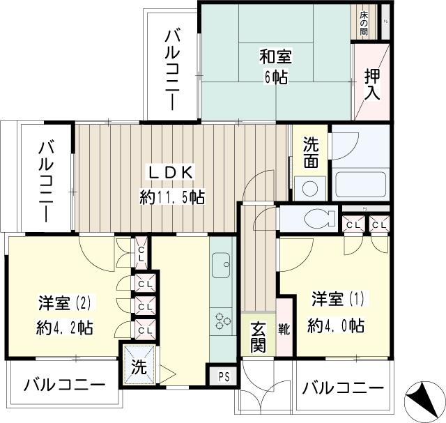 NICアーバンハイム二俣川・0101号室の間取り