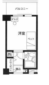 サンクレスト綾瀬・208号室の間取り