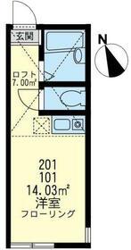 ユナイト横浜スワンナプームの丘・101号室の間取り