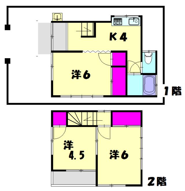 東武内田貸家・1号室の間取り