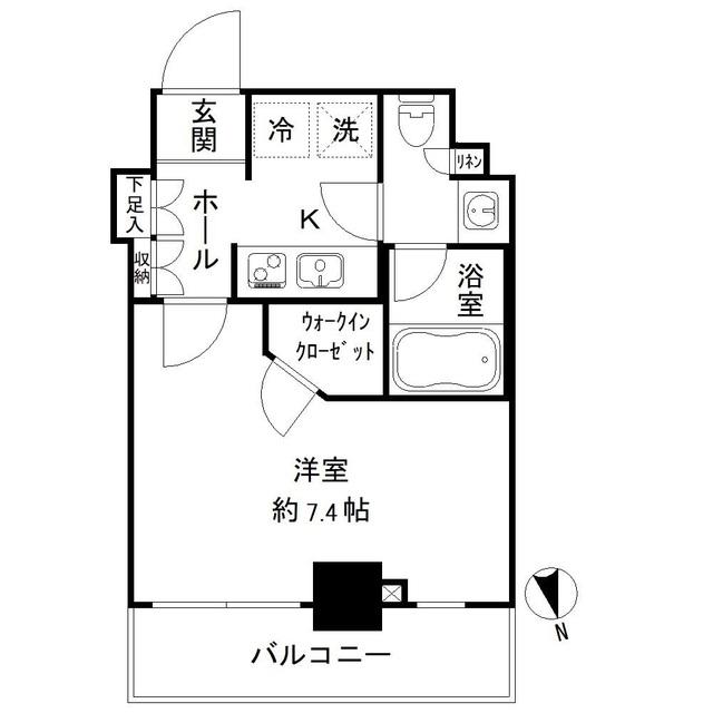 パークリュクス亀戸ステーションサイド・514号室の間取り