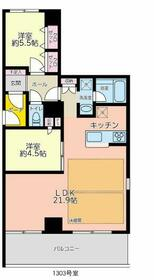 ロワール横浜レムナンツ・1303号室の間取り
