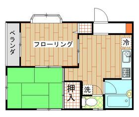 秋山コーポ・202号室の間取り
