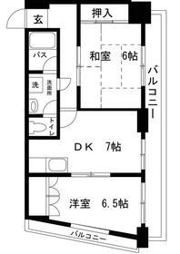 アパートメントナカジマ・203号室の間取り