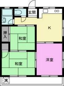 伊藤中央マンション 205号室の間取り