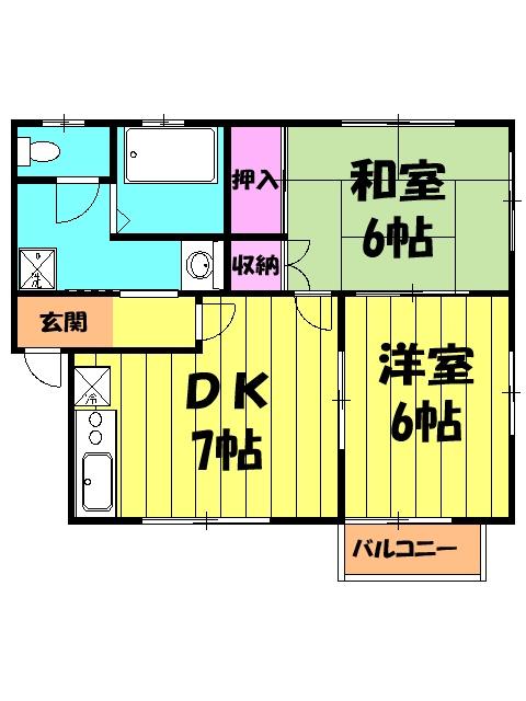 オレンジハウス森田弐番館 203号室の間取り