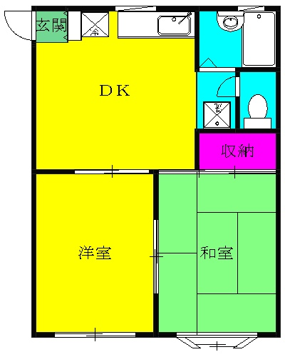 パームハウス湘南 201号室の間取り