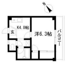 セントラルハイツ森田・303号室の間取り