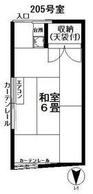 斉藤方アパート 205号室の間取り