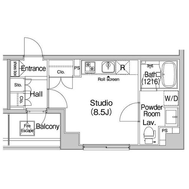 コンフォリア上野広小路・1203号室の間取り