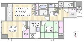 フローレンスパレス御茶ノ水フィアンコ 201号室の間取り