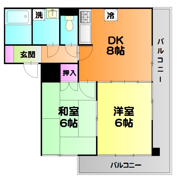 コスモ東綾瀬・103号室の間取り