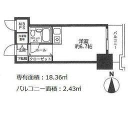 パレ・ドール文京メトロプラザⅠ 812号室の間取り