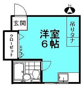 田仁ハイツ・2-B号室の間取り