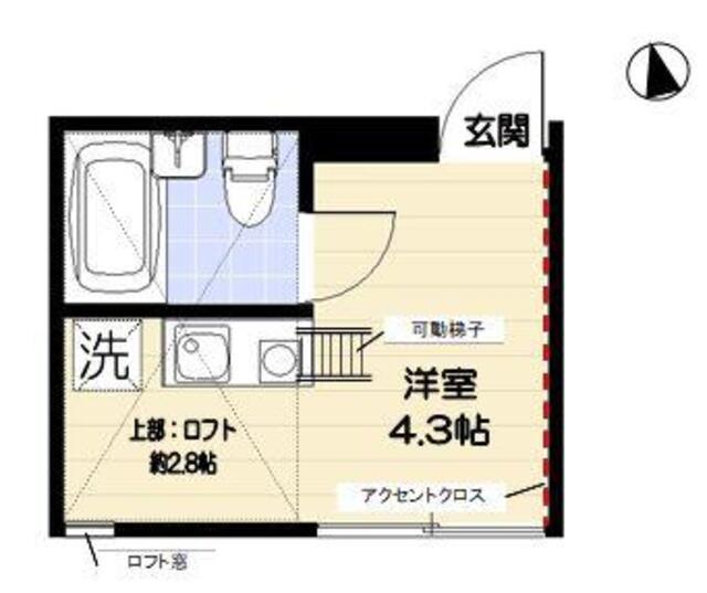 R-STYLE竹ノ塚 1st 205号室の間取り