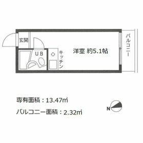 パレ・ドール文京Ⅲ・502号室の間取り