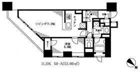 レジディア日本橋馬喰町・0409号室の間取り