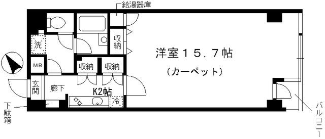 シャルム内神田・201号室の間取り