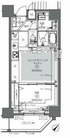 ZOOM日本橋馬喰町・1303号室の間取り