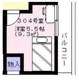浅草ゲストハウス・304号室の間取り
