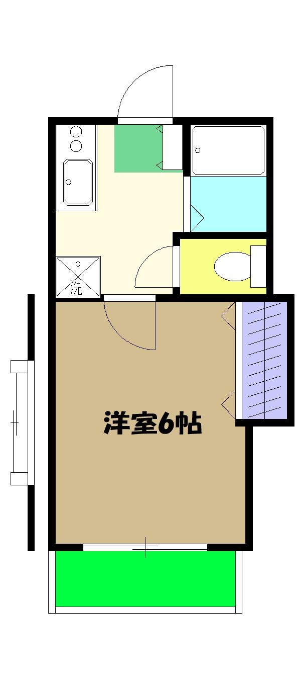 リヴェール仙川・206号室の間取り