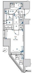フェルクルール上野駅前・201号室の間取り