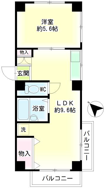 第101新井ビル・0402号室の間取り