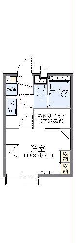 レオパレスKIYOKAWA・102号室の間取り
