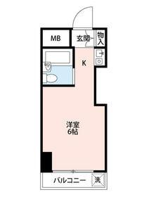 TOP浅草 604号室の間取り