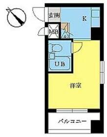 スカイコート浅草国際通り・603号室の間取り