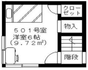 浅草ゲストハウス・501号室の間取り