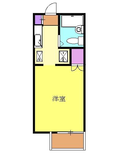 ルベール東小金井アネックス・106号室の間取り
