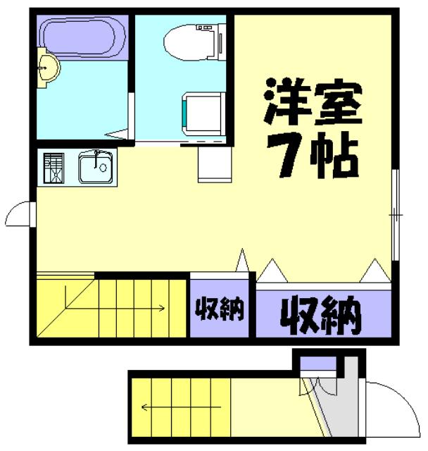 ZEST MUSAKO・202号室の間取り
